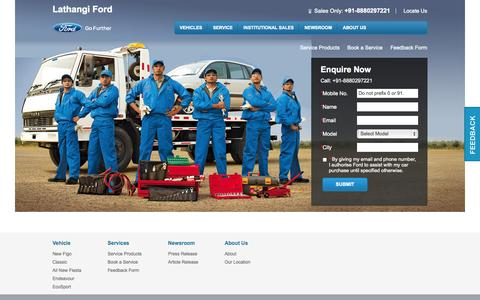 Screenshot of Services Page lathangiford.com - Service - captured Nov. 1, 2014