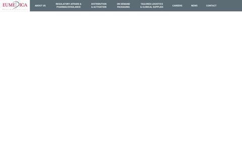 Screenshot of Home Page eumedica.com - Home   Eumedica - captured Dec. 8, 2018