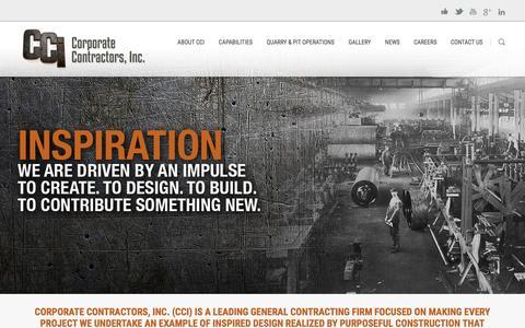 Screenshot of Home Page cciwi.com - Corporate Contractors Inc - Beloit, WisconsinCorporate Contractors, Inc. | Beloit, WI - captured Jan. 23, 2016