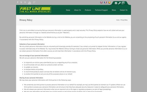 Screenshot of Privacy Page firstline.co.uk - First Line   –  Privacy Policy - captured Oct. 6, 2014