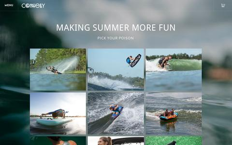 Screenshot of Products Page connellyskis.com - 2019 Connelly Products - Connelly Watersports - captured Nov. 17, 2018