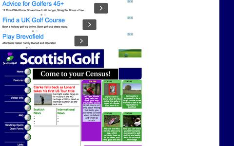 Screenshot of Home Page Maps & Directions Page scottishgolf.com - scottish golf - scotland courses - clubs equipment - golf news from scottishgolf.com - captured March 11, 2016