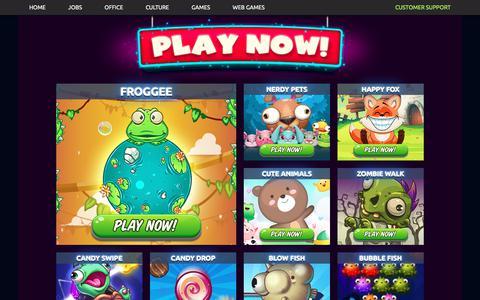 Screenshot of Home Page kiloo.com - Kiloo   games for mobile - captured Sept. 20, 2018