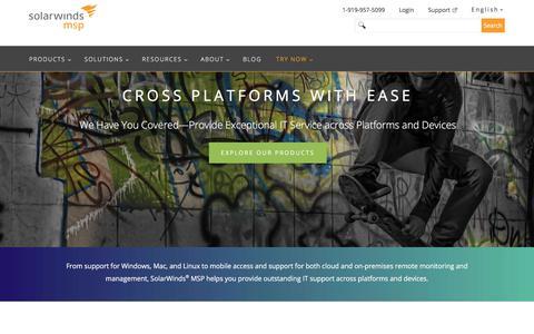 Cross-Platform Support | SolarWinds MSP