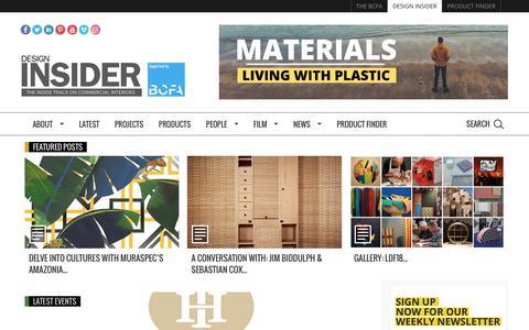 Screenshot of Home Page designinsiderlive.com - Design Insider - captured Oct. 8, 2018