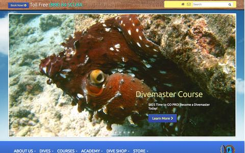 Screenshot of Home Page aaronsdiveshop.com - Dive Oahu Hawaii | Aaron's Dive Shop Kailua, Oahu | Scuba diving on Oahu - captured June 19, 2015