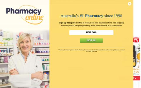 Screenshot of Contact Page pharmacyonline.com.au - Pharmacy Online - captured May 16, 2017