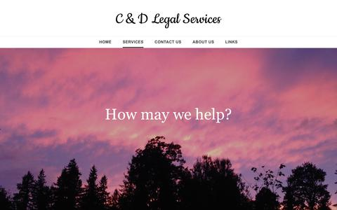 Screenshot of Services Page cdlegalservices.com - Services - C & D Legal Services - captured June 3, 2017
