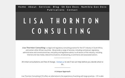 Screenshot of About Page thornton.co.za - Lisa Thornton Inc - captured Sept. 29, 2018