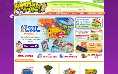 Screenshot of Login Page allermates.com - ALLERMATES - Kids Allergy Awareness Bracelets, Jewelry & Childrens Accessories for Safer Playdates! - captured Sept. 19, 2014