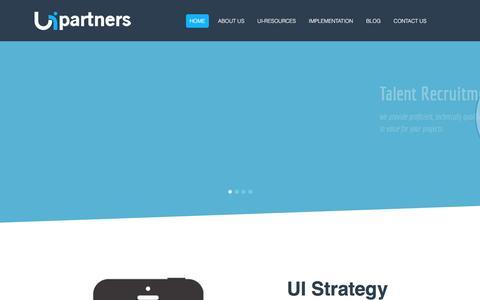 Screenshot of Home Page ui-partners.com - UI partners - captured Dec. 19, 2015