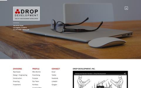Screenshot of Home Page dropdevelopment.com - Drop Development, Inc. - Drop Development Inc - captured Feb. 9, 2016