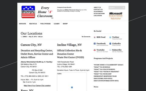 Screenshot of Locations Page computercorps.org - Our Locations | ComputerCorps - captured Oct. 28, 2014