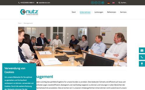 Screenshot of Team Page nutz.com - Management - nutz - Technik aus einer Hand - captured Oct. 20, 2018