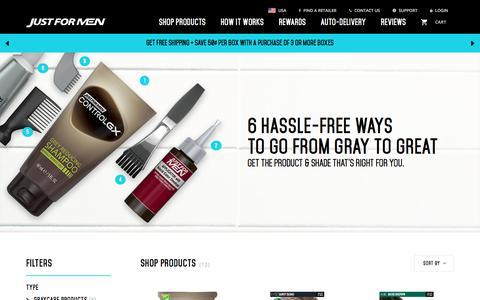 Screenshot of Products Page justformen.com - Shop Products JFM Concierge - captured Oct. 8, 2017
