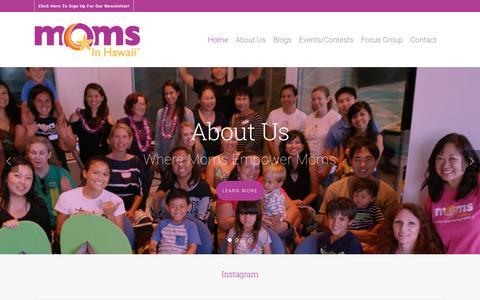 Screenshot of Home Page momsinhawaii.com - Home - Moms in Hawaii - captured Nov. 29, 2016