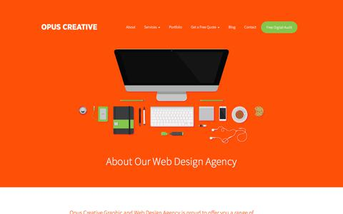 Screenshot of About Page opuscreative.ie - About Our Web Design Agency - Opus Creative - captured July 5, 2018