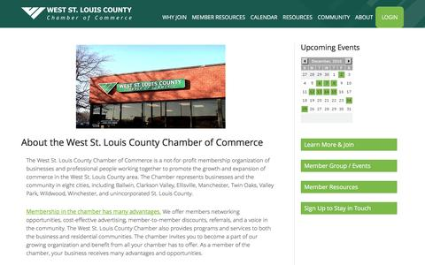 Screenshot of About Page westcountychamber.com - About Us - West County Chamber of Commerce - captured Dec. 15, 2016