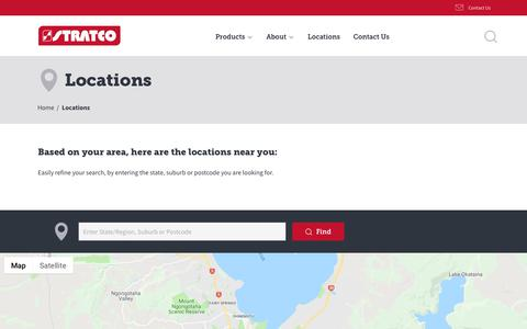 Screenshot of Locations Page stratco.co.nz - Locations | Stratco NZ - captured Oct. 22, 2018