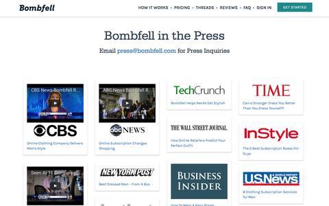 Screenshot of Press Page bombfell.com - Bombfell in the Press : Bombfell - captured Nov. 18, 2016