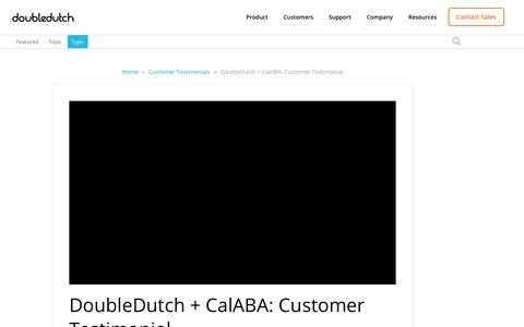 Screenshot of Testimonials Page doubledutch.me - DoubleDutch + CalABA: Customer Testimonial - captured April 13, 2018