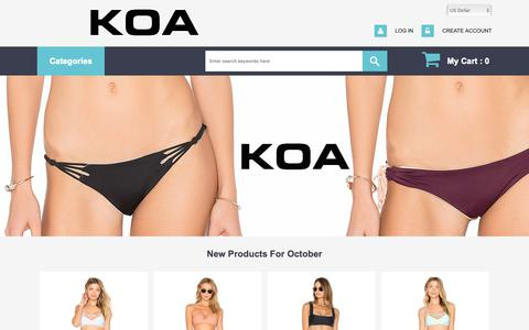 Screenshot of Home Page kangarookayaking.com - Indah Handbags Store Canada Toronto  - Kiini Bikini Sale  It`S Not Enough That We Do Our Best - captured Oct. 14, 2018
