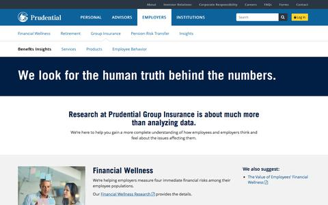 Group Insurance Benefits Insights | Prudential Financial