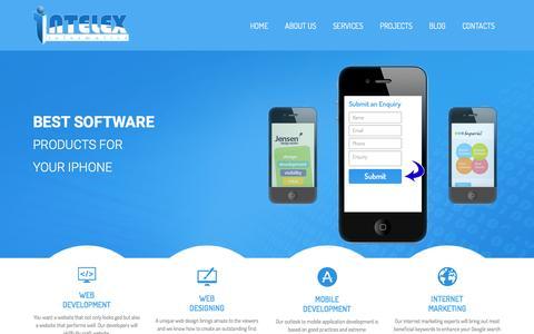 Screenshot of Home Page intelexinformatics.com - Intelexinformatics - captured Feb. 4, 2016