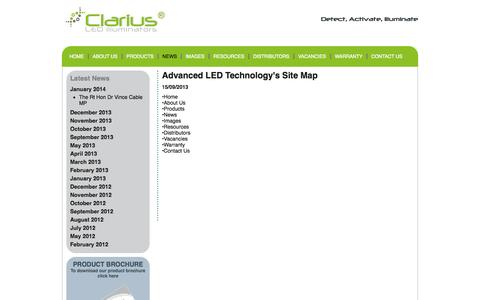 Screenshot of Site Map Page advanced-led-technology.com - Site Map - captured Oct. 4, 2014