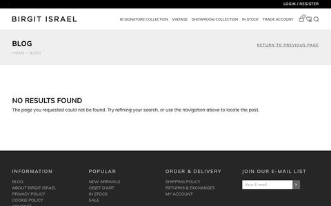 Screenshot of Blog birgitisrael.com - Blog - Birgit Israel - captured Nov. 6, 2018