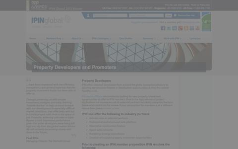 Screenshot of Developers Page ipinglobal.com - Developers and Promoters | IPIN Global - captured Sept. 19, 2014