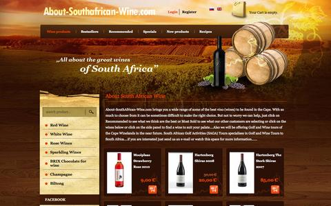 Screenshot of Home Page Site Map Page about-southafrican-wine.com - Wine products - About-Southafrican-wine.com - vino and more.. - captured Oct. 7, 2014