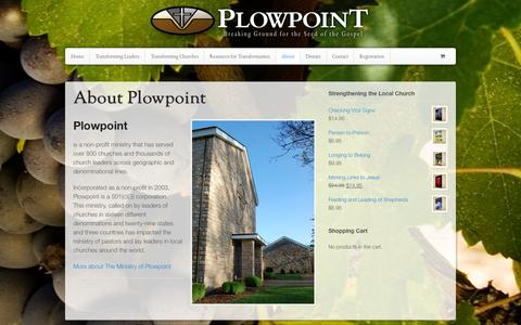 Screenshot of About Page plowpoint.org - About Plowpoint - Plowpoint - captured Sept. 30, 2014