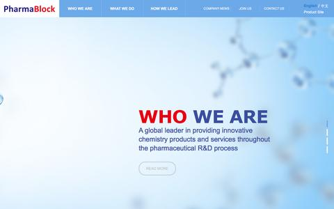 Screenshot of Home Page pharmablock.com - 南京药石科技股份有限公司 - captured Nov. 5, 2016