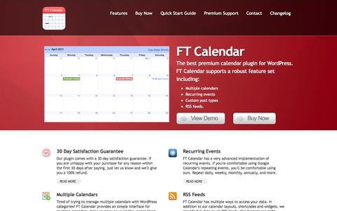 Screenshot of Home Page calendar-plugin.com - WordPress Event Calendar Plugin - captured Sept. 19, 2014