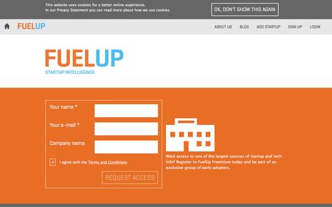 Screenshot of Signup Page fuelup.co - FUELUP - Sign Up - captured Dec. 4, 2015