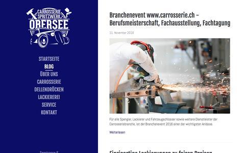Screenshot of Blog carrosserieobersee.ch - Carrosserie Obersee GmbH - Blog | Carrosserie Obersee GmbH - captured Jan. 23, 2017