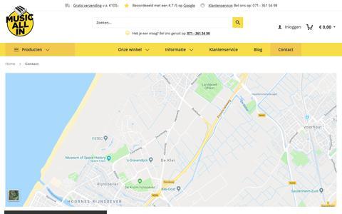 Screenshot of Contact Page musicallin.nl - Contact - captured Nov. 7, 2018