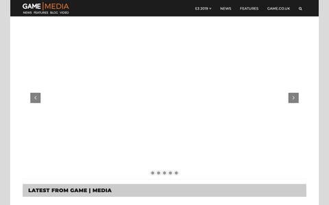 Screenshot of Press Page game.co.uk - Home - GAME | Media - captured June 18, 2019