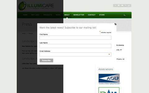 Screenshot of Press Page illumicaregroup.com - Press - captured Oct. 6, 2014