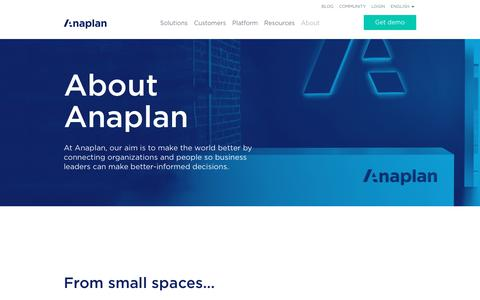 About Anaplan
