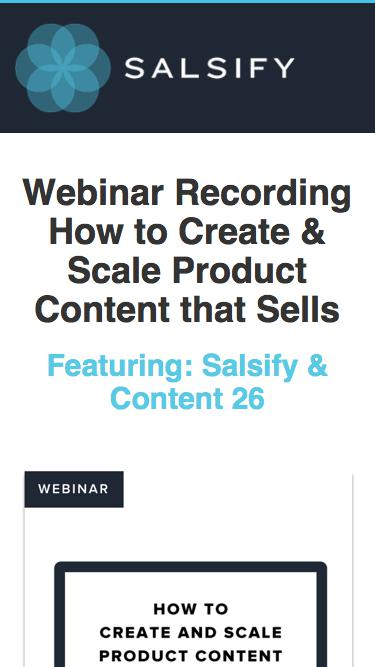 Webinar - How to Create and Scale Product Content that Sells