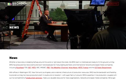 Screenshot of Press Page broadcastmgmt.com - Live News Production | Broadcast Management Group - captured Oct. 11, 2017