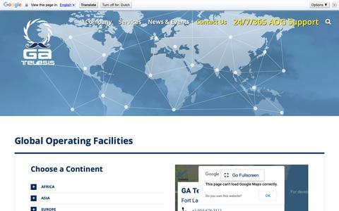 Screenshot of Locations Page gatelesis.com - Operating Facilities Worldwide - GA Telesis - MRO Services - captured Nov. 4, 2018