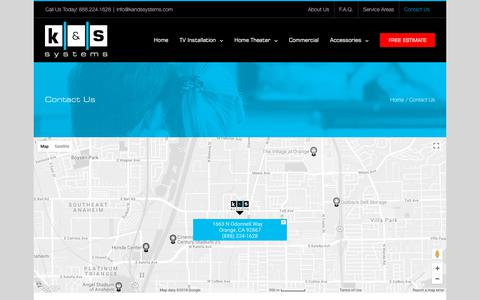 Screenshot of Contact Page kandssystems.com - Contact Us | K&S Systems - captured July 9, 2018
