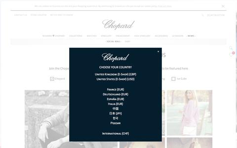 Screenshot of Press Page chopard.com - Chopard Social Wall | Chopard Official Website - captured May 16, 2017