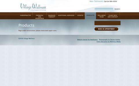 Screenshot of Products Page villagewellness.com - Products - captured Dec. 12, 2016