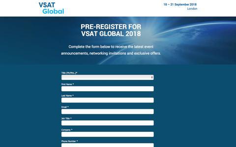 Screenshot of Landing Page knect365.com - VSAT Global - captured April 27, 2018