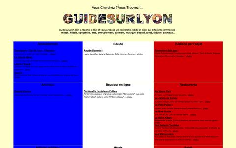 Screenshot of Home Page guidesurlyon.com - GuidesurLyon.com | annuaire, commerces, restaurants, hotels - captured Oct. 16, 2015