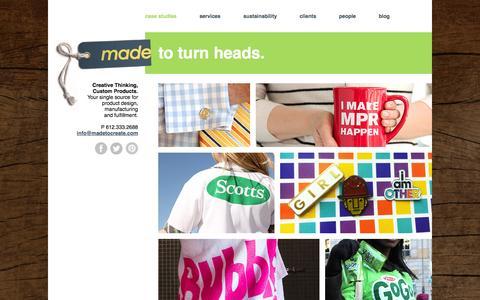 Screenshot of Case Studies Page madetocreate.com - Case Studies - Made - captured Oct. 3, 2014